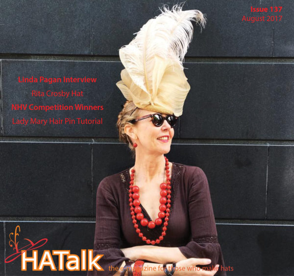 HATalk Issue 137 cover featuring Linda Pagan of The Hat Shop NYC