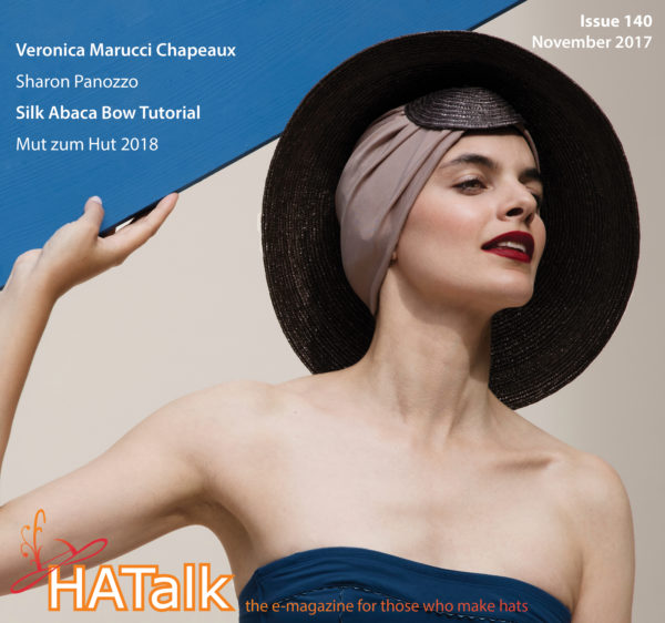 HATalk Issue 140 (November 2017). Cover hat by Veronica Marucci.