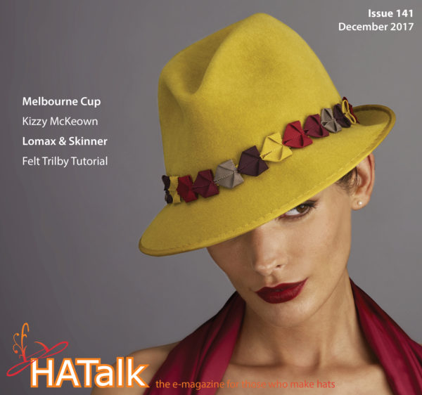 HATalk Issue 141 - December 2017. Cover hat by Lomax & Skinner.
