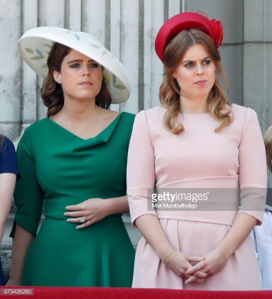 Princess Eugenie and Beatrice at the 2018 Trooping of the Colour, Getty Images