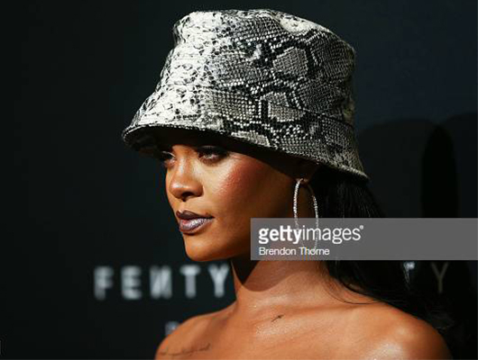 Rihanna at Fendy in Bucket Hat, Getty Images