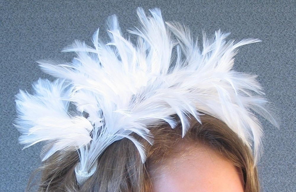 Hackle Spray Fascinator - Feathers for Millinery