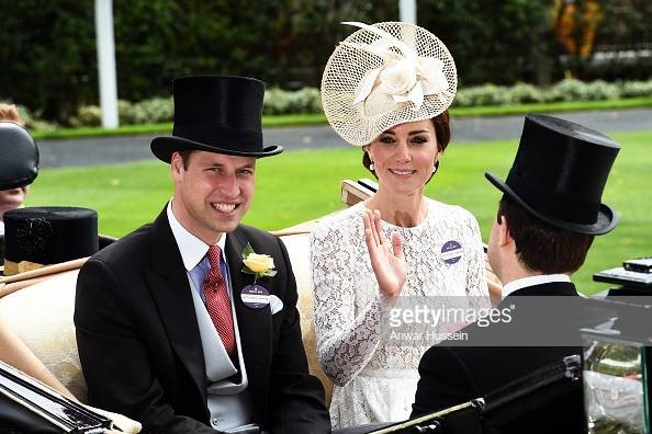 Royal Family at Royal Ascot - William and Kate 2011
