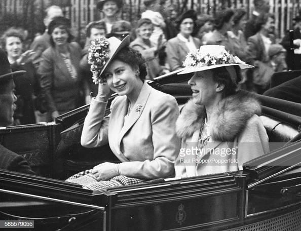 Royal Family at Royal Ascot - Queen Elizabeth II 1946, Getty Images