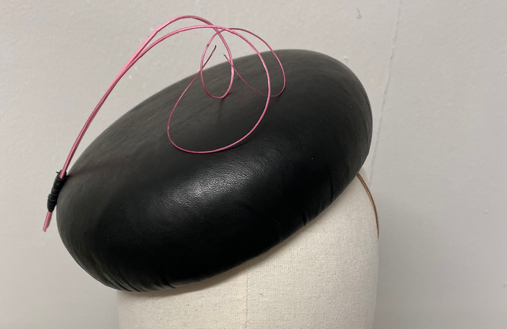 Leather Cocktail Hat